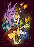 Eeveelutions by Tuooneo