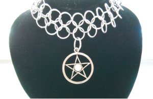Pentacle Chainmail Choker 2 by poisons-sanity