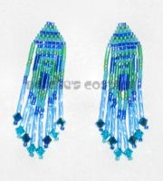 Blue and Green Earrings by Natalie526