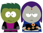 South Park Beast Boy and Raven by Fritters