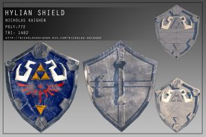 The Hylian Shield Construction Sheet by nicholasKaighen
