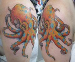 Octopus Tattoo by JoshDixArt