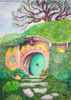 16 Day: a place you want to go - Hobbiton. by Masandro
