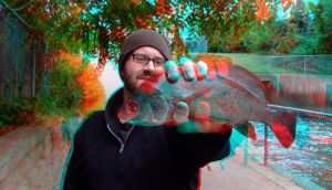 3D fish in your face! by mightyquarfoth