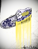 Colored Nike shoe by HarisBukva