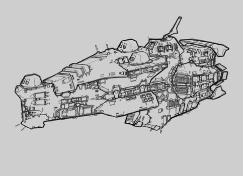 Taiidan destroyer by Talros