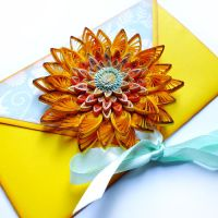 quilling envelope Summery by othewhitewizard