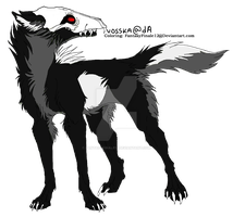Wolf Lineart Coloring (Death 5) by FantasyFinale12