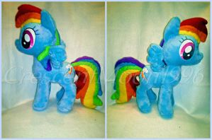 Rainbow Dash Plush by CrescentMoon96