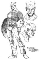Captain America by harveytsketchbook