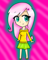 Chibi Human Fluttershy by ToonZelinkFanForever