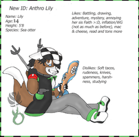 -New ID: Anthro Lily- by Puffed-Up
