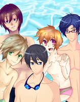 Iwatobi Ask Club by LunarFaith