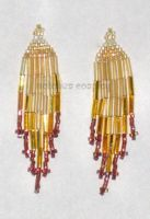 Mini Gold and Brown Earrings by Natalie526