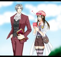 Let me help you, Mr.Edgeworth! by thepinkiest