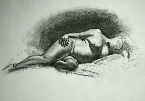 Figurative Drawing - 1 Dec by purplecow1057