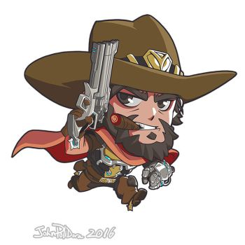 Cute But Deadly McCree by NorseChowder