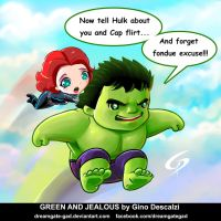 Hulk`n Widow Green and jealous by Dreamgate-Gad