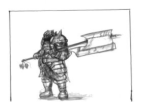 Weekly Sketch - Slaughterer by Brollonks