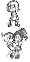 Wreck it Ralph sketches again by Keed-Kat