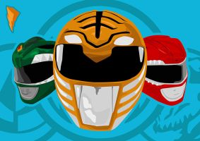 Mighty Morphin Power Rangers by cesterical