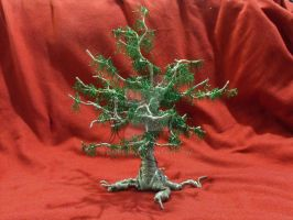 Wire Tree Sculpture 1 by Zimriver