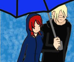 Under an umbrella by Kay-is-Dreaming