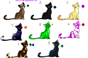 Cat adoptables -OPEN- by Darkstar-The-Great