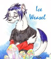 Ice Weasel by foxyfennec
