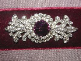 Diamond and Amethyst Brooch by FantasyStock