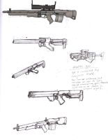 Weapon Sketches by ModalMechanica