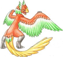 Specdramon -Ho-oh digimon- by Rijolt