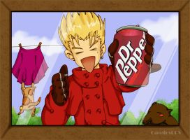 Vash says drink Dr.Pepper by camlost