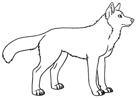 Wolf Lineart by Sporelett