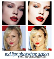Red Lips Photoshop Action by ToxicActions