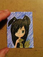 ACEO #19 chibi OC Onee Chan from Blade and Soul by ShelandryStudio