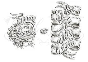 Banner lettering sheet by dfmurcia