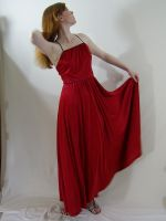 Long Red Dress 5 by chamberstock