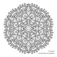 Preview of Advanced Mandala A3 Coloring Book 2 by Mandala-Jim