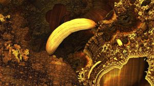 i found a banana in the mandelbulb by viperv6