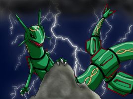Rayquaza by OmegaDemonFox