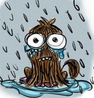 Forever Alone ... in the rain! by Meelanya