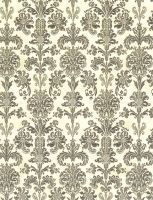 Vintage Black Damask by FredtheCow-Stock