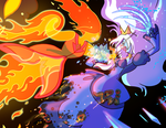 Flame Princess VS Ice Queen Closeup by Yamino
