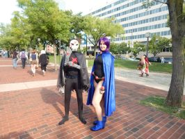 Otakon 2014-Red X and Raven by maromichan