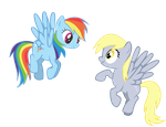 My first Rainbow Dash and Derpy by Zengel