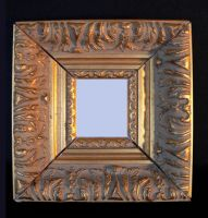 antique style gold frame by clandestine-stock