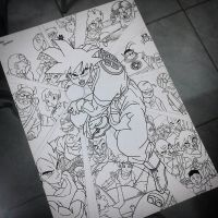 Dragon Ball Z (PAINTING IN PROGRESS...) by Tiag0Henrique