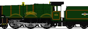GWR Castle Class Sprite by omega-steam