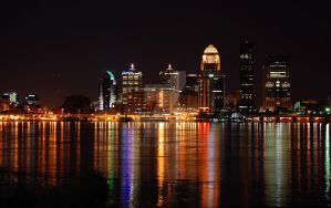 Downtown louisville at night by ALM92